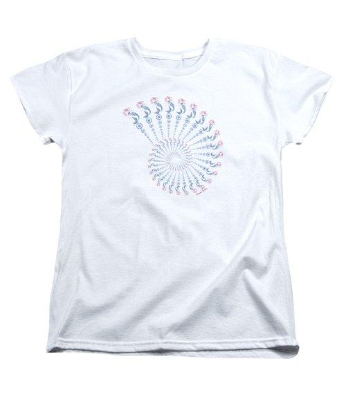 Tribal Mermaid Spiral Shell Women's T-Shirt (Standard Cut) by Heather Schaefer