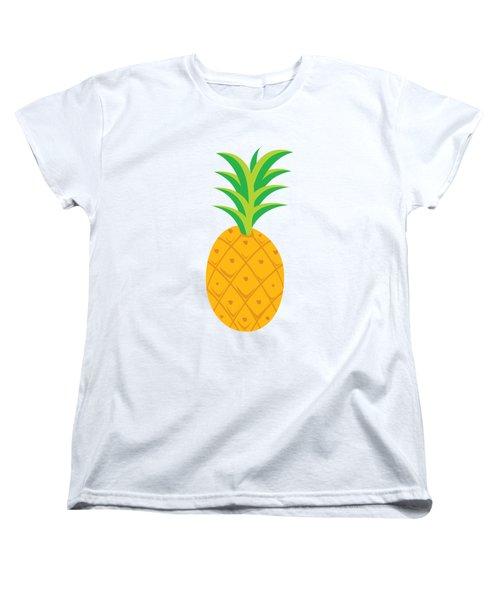 Tropical Fruits Ananas Pineapple Women's T-Shirt (Standard Cut) by MGdezigns