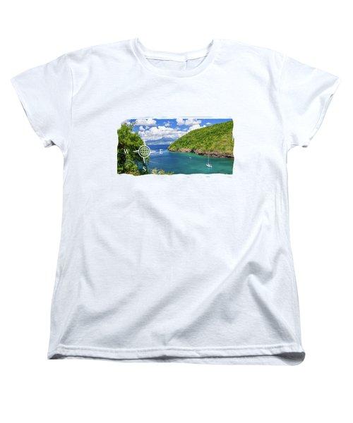 Tropical Lagoon Women's T-Shirt (Standard Cut) by Konstantin Sevostyanov