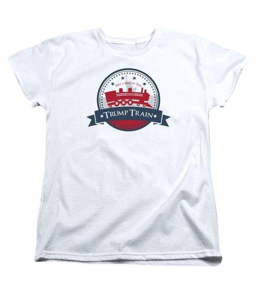 Trump Train Women's T-Shirt (Standard Cut) by Eye Candy Creations