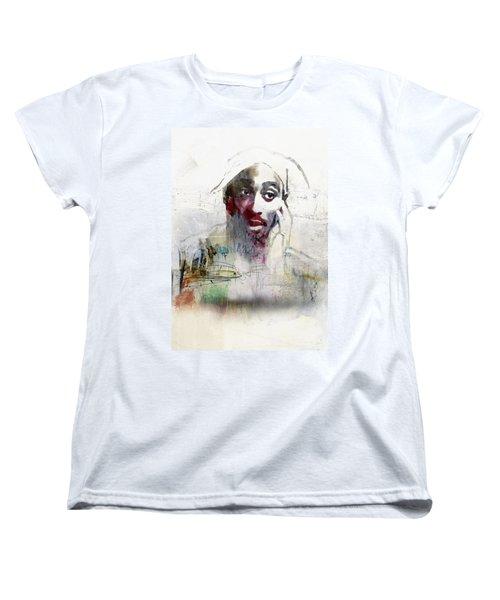 Tupac Graffitti 2656 Women's T-Shirt (Standard Cut) by Jani Heinonen