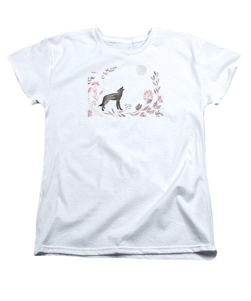 Twilight Wolf Women's T-Shirt (Standard Cut) by Amanda Lakey