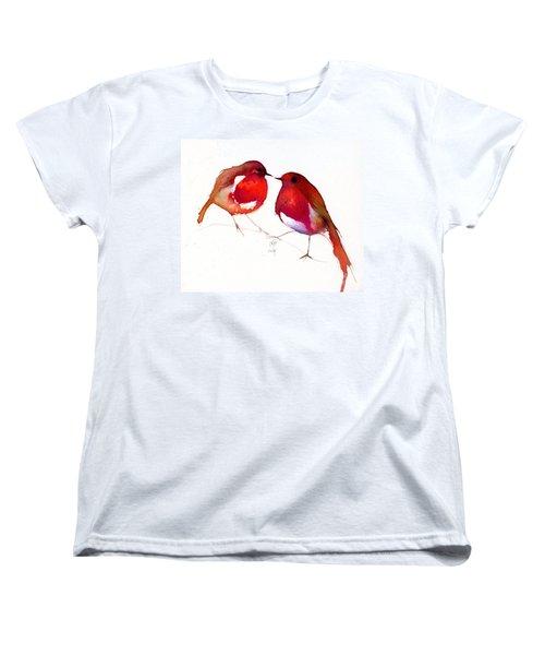 Two Little Birds Women's T-Shirt (Standard Cut) by Nancy Moniz