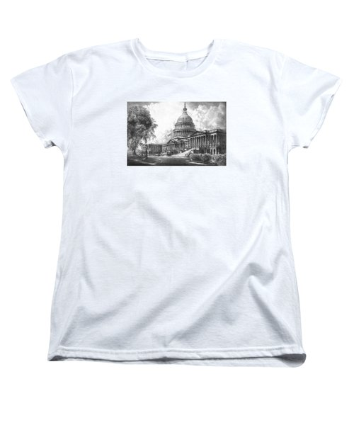 United States Capitol Building Women's T-Shirt (Standard Cut) by War Is Hell Store