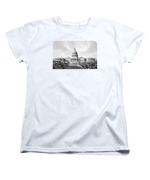 Us Capitol Building - Washington Dc Women's T-Shirt (Standard Cut) by War Is Hell Store