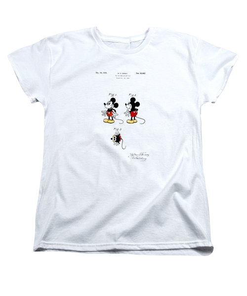 Vintage 1930 Mickey Mouse Patent Women's T-Shirt (Standard Cut) by Digital Reproductions