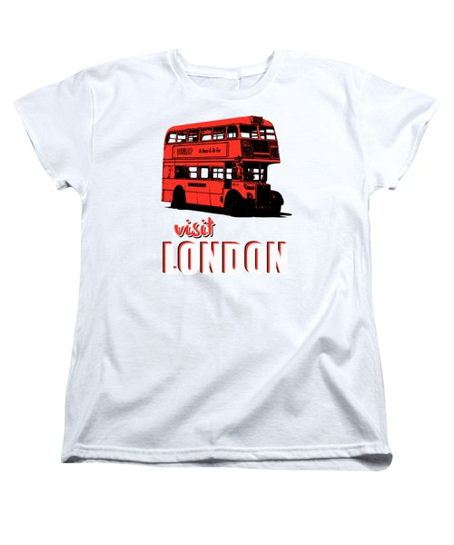 Visit London Tee Women's T-Shirt (Standard Cut) by Edward Fielding