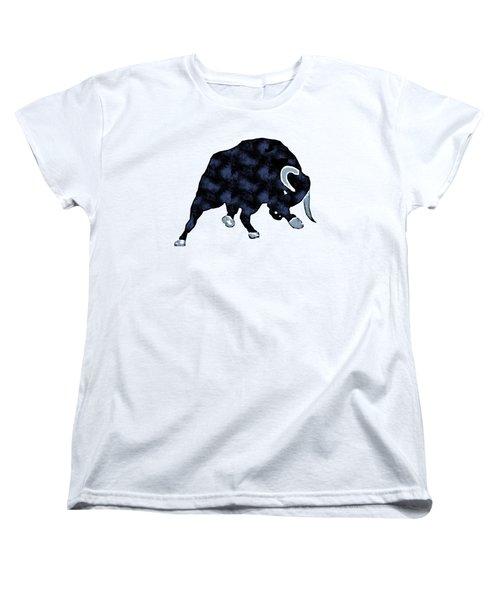 Wall Street Bull Market Series 1 T-shirt Women's T-Shirt (Standard Cut) by Edward Fielding