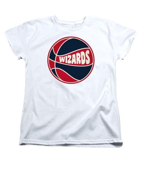 Washington Wizards Retro Shirt Women's T-Shirt (Standard Cut) by Joe Hamilton