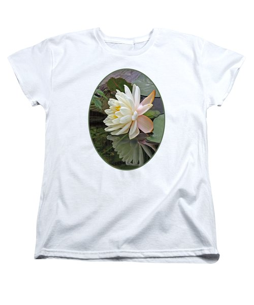 Water Lily Reflections Women's T-Shirt (Standard Cut) by Gill Billington