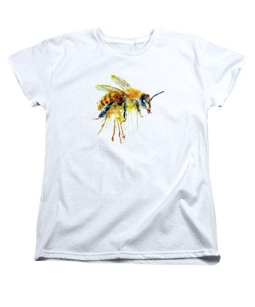Watercolor Bee Women's T-Shirt (Standard Cut) by Marian Voicu