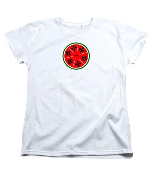 Watermelon Summer Women's T-Shirt (Standard Cut) by Chastity Hoff