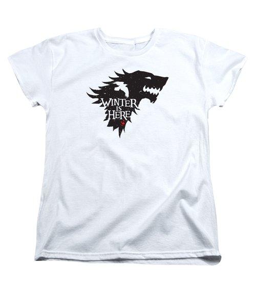 Winter Is Here Women's T-Shirt (Standard Cut) by Edward Draganski