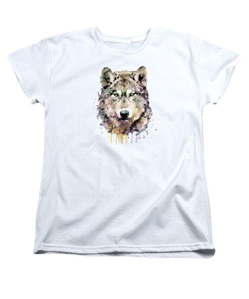 Wolf Head Women's T-Shirt (Standard Cut) by Marian Voicu