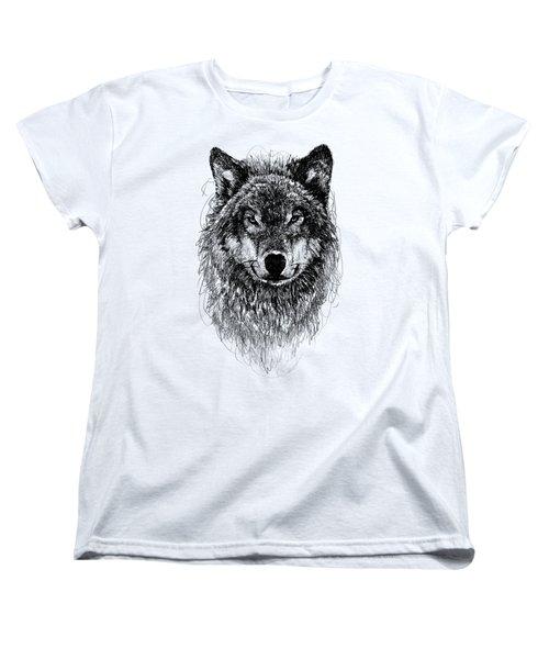 Wolf Women's T-Shirt (Standard Cut) by Michael  Volpicelli