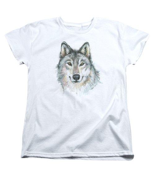 Wolf Women's T-Shirt (Standard Cut) by Olga Shvartsur