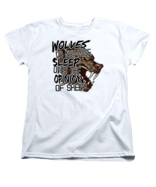 Wolves And Sheep Women's T-Shirt (Standard Cut) by Michelle Murphy