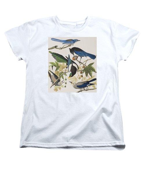 Yellow-billed Magpie Stellers Jay Ultramarine Jay Clark's Crow Women's T-Shirt (Standard Cut) by John James Audubon