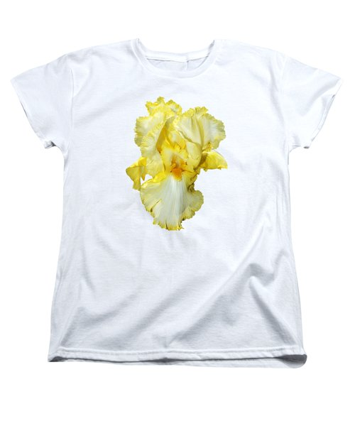 Yellow Mist Iris Women's T-Shirt (Standard Cut) by Phyllis Denton
