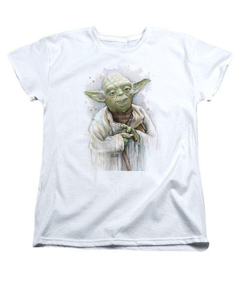 Yoda Women's T-Shirt (Standard Cut) by Olga Shvartsur