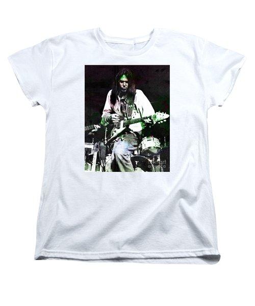 Young Neil Women's T-Shirt (Standard Cut) by John Malone
