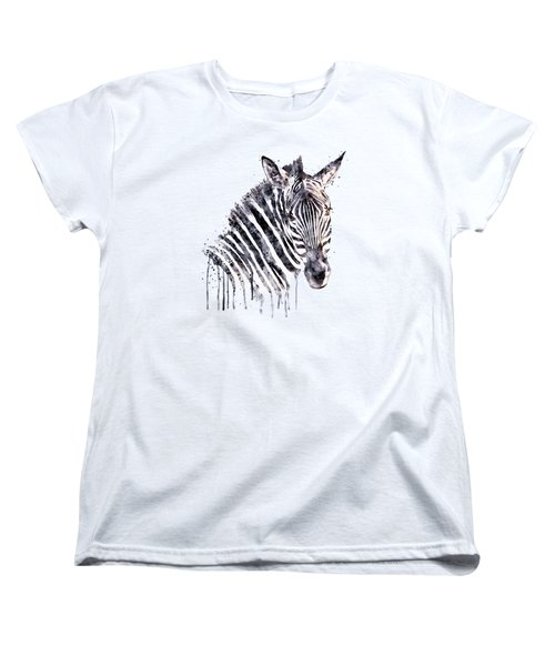 Zebra Head Women's T-Shirt (Standard Cut) by Marian Voicu