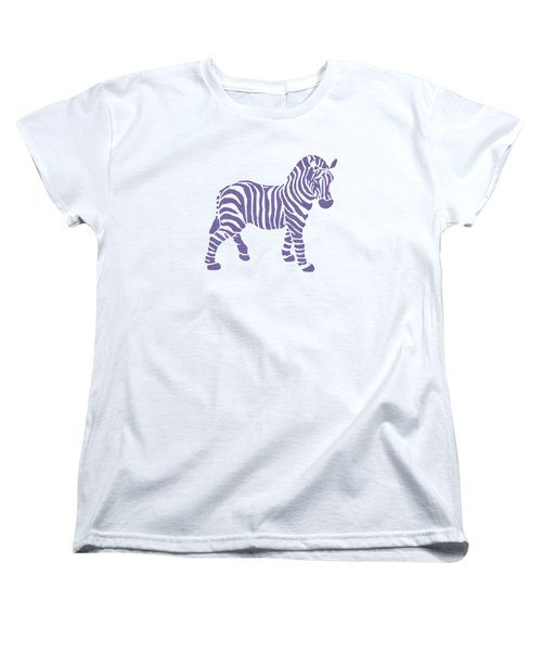 Zebra Stripes Pattern Women's T-Shirt (Standard Cut) by Christina Rollo