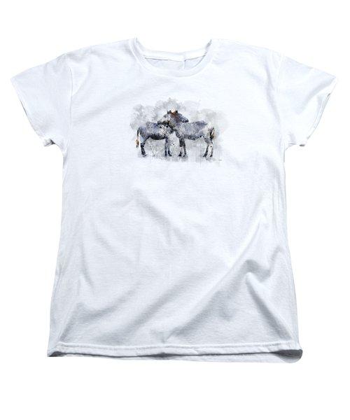 Zebras Women's T-Shirt (Standard Cut) by Marlene Watson