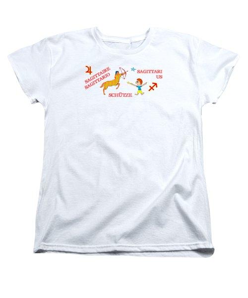 Zodiac Sign Sagittarius Women's T-Shirt (Standard Cut) by Gabriele Pomykaj