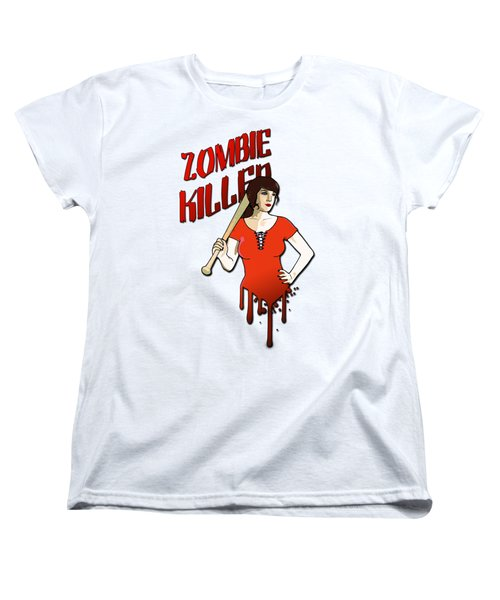 Zombie Killer Women's T-Shirt (Standard Cut) by Nicklas Gustafsson