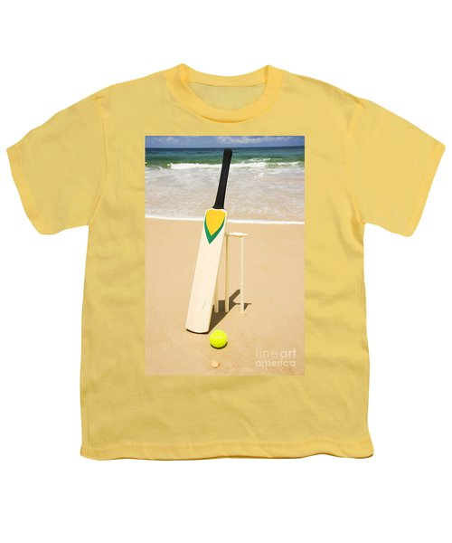 Bat Ball And Stumps Youth T-Shirt by Jorgo Photography - Wall Art Gallery