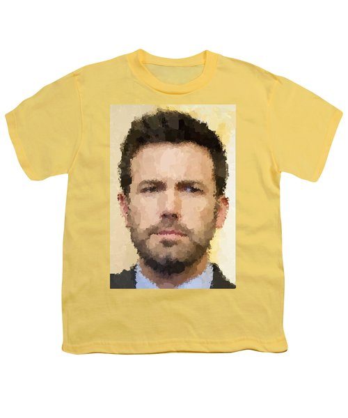 Ben Affleck Portrait Youth T-Shirt by Samuel Majcen