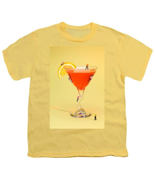 Climbing On Red Wine Cup Youth T-Shirt by Paul Ge