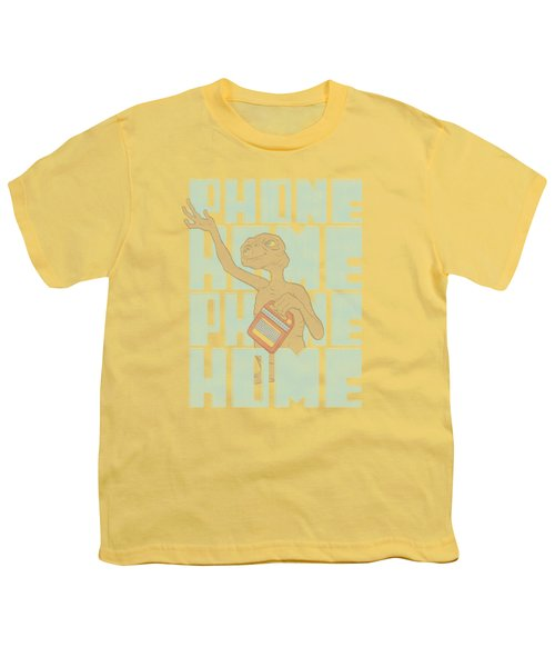 Et - Dropped Calls Youth T-Shirt by Brand A