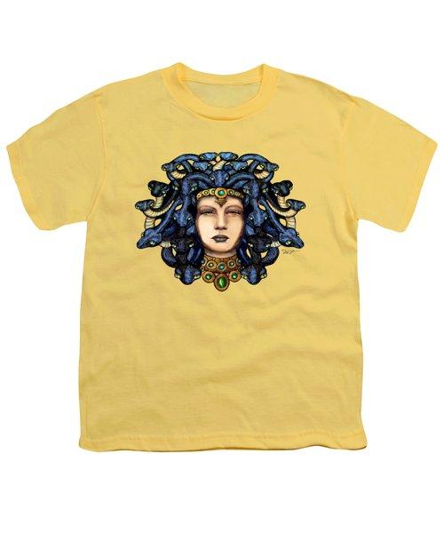 16x20 Medusa 2 Blu Gold Youth T-Shirt by Dia T
