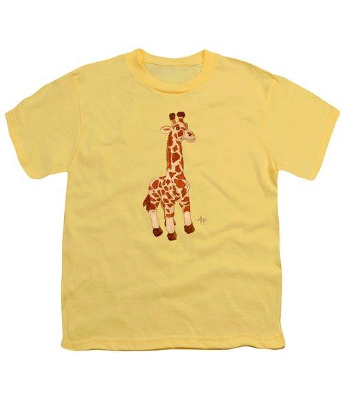 Cuddly Giraffe Youth T-Shirt by Angeles M Pomata