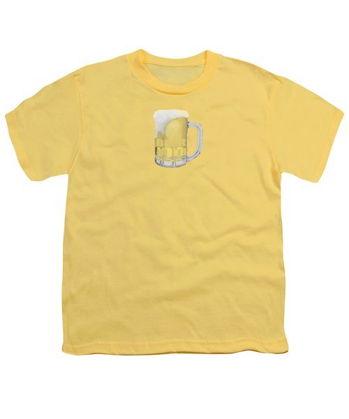 Beer Youth T-Shirt by Priscilla Wolfe