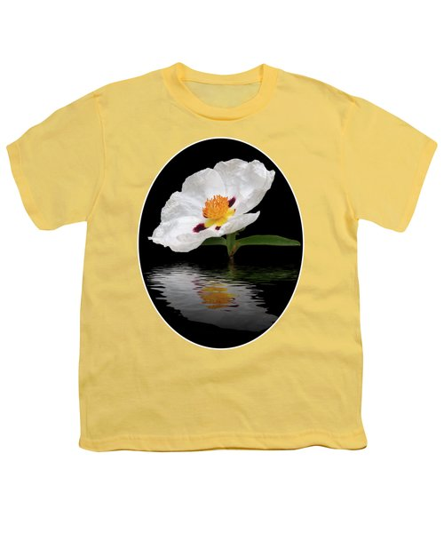 Cistus Reflections Youth T-Shirt by Gill Billington