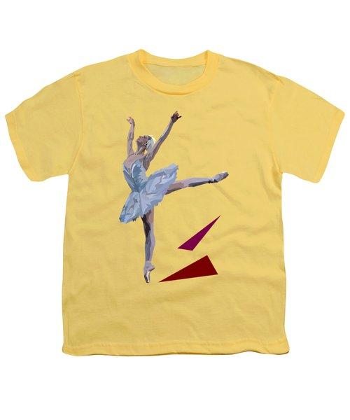Ballerina Dancing Swan Lake Youth T-Shirt by James Bryson