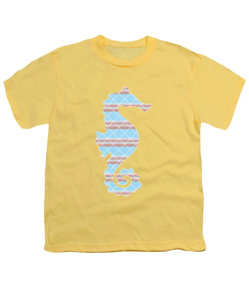 Blue Stripe Pattern Aged Youth T-Shirt by Christina Rollo