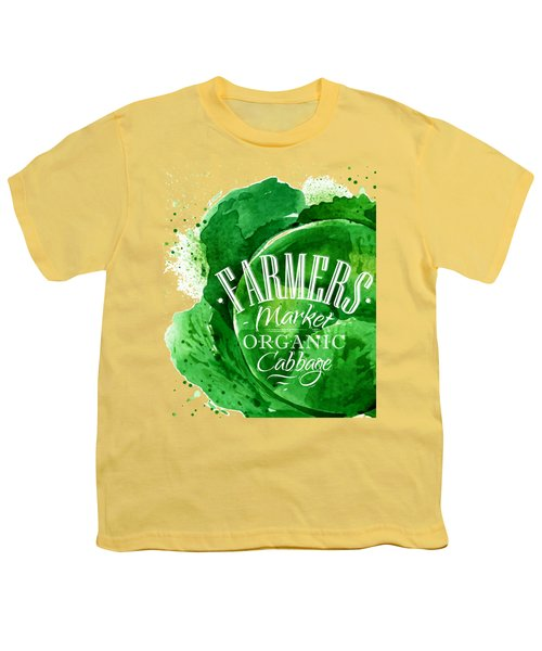 Cabbage Youth T-Shirt by Aloke Design