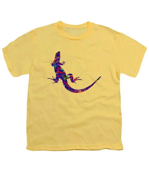 Colourful Lizard Youth T-Shirt by Bamalam  Photography