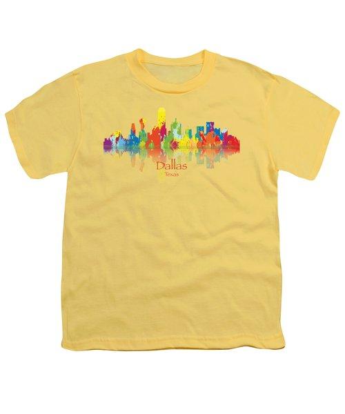 Dallas Texas Tshirts And Accessories Art Youth T-Shirt by Loretta Luglio