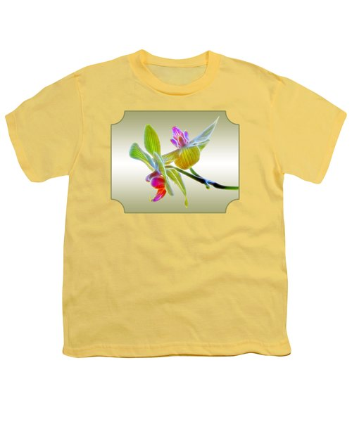 Dragon Glow Orchid Youth T-Shirt by Gill Billington