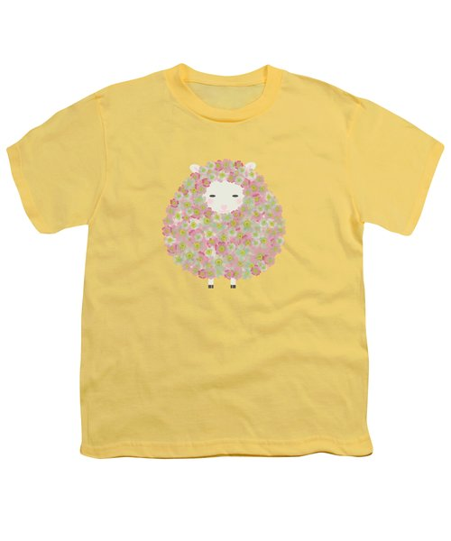 Flowery Sheep Youth T-Shirt by Brigitte Carre