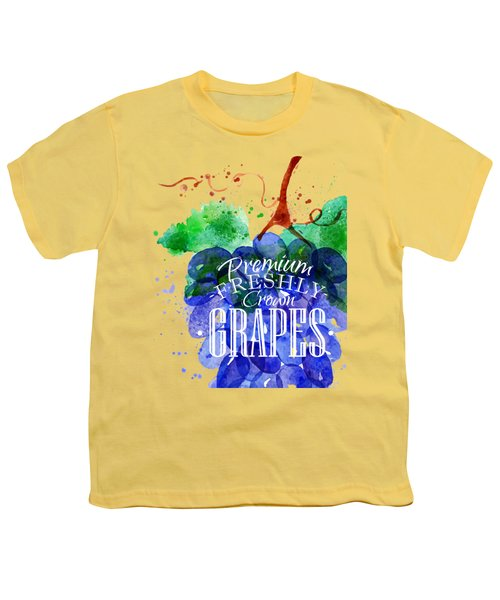 Grapes Youth T-Shirt by Aloke Design