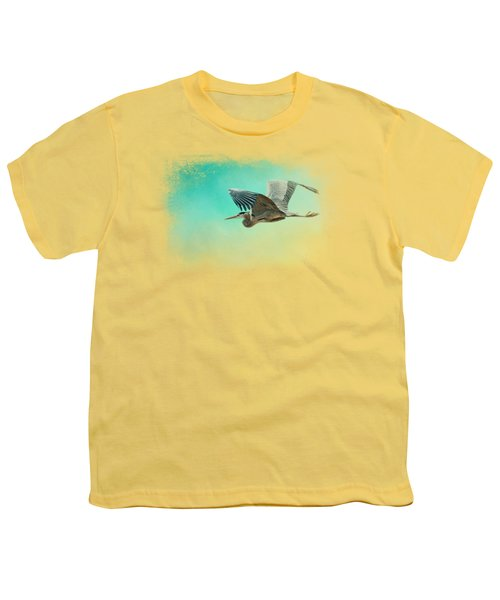 Heron At Sea Youth T-Shirt by Jai Johnson