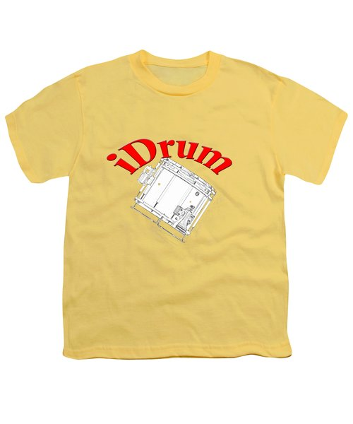 iDrum Youth T-Shirt by M K  Miller