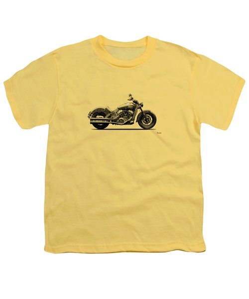 Indian Scout 2015 Youth T-Shirt by Mark Rogan