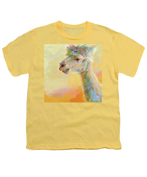 Lolly Llama Youth T-Shirt by Kimberly Santini